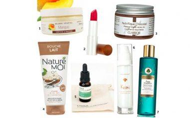Une selections de produits cosmétiques bio