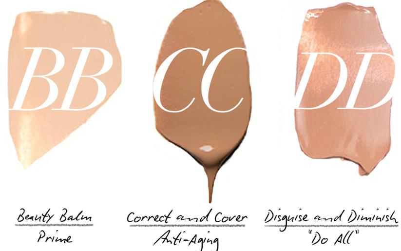 BB crème CC crème DD crème