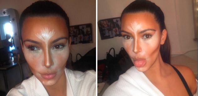 Contouring de Kim Kardashian