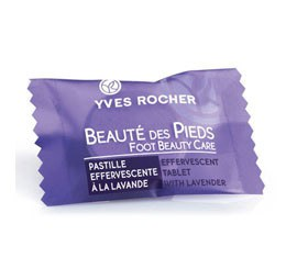 Galets effervessants d'Yves Rocher pour de jolis pieds