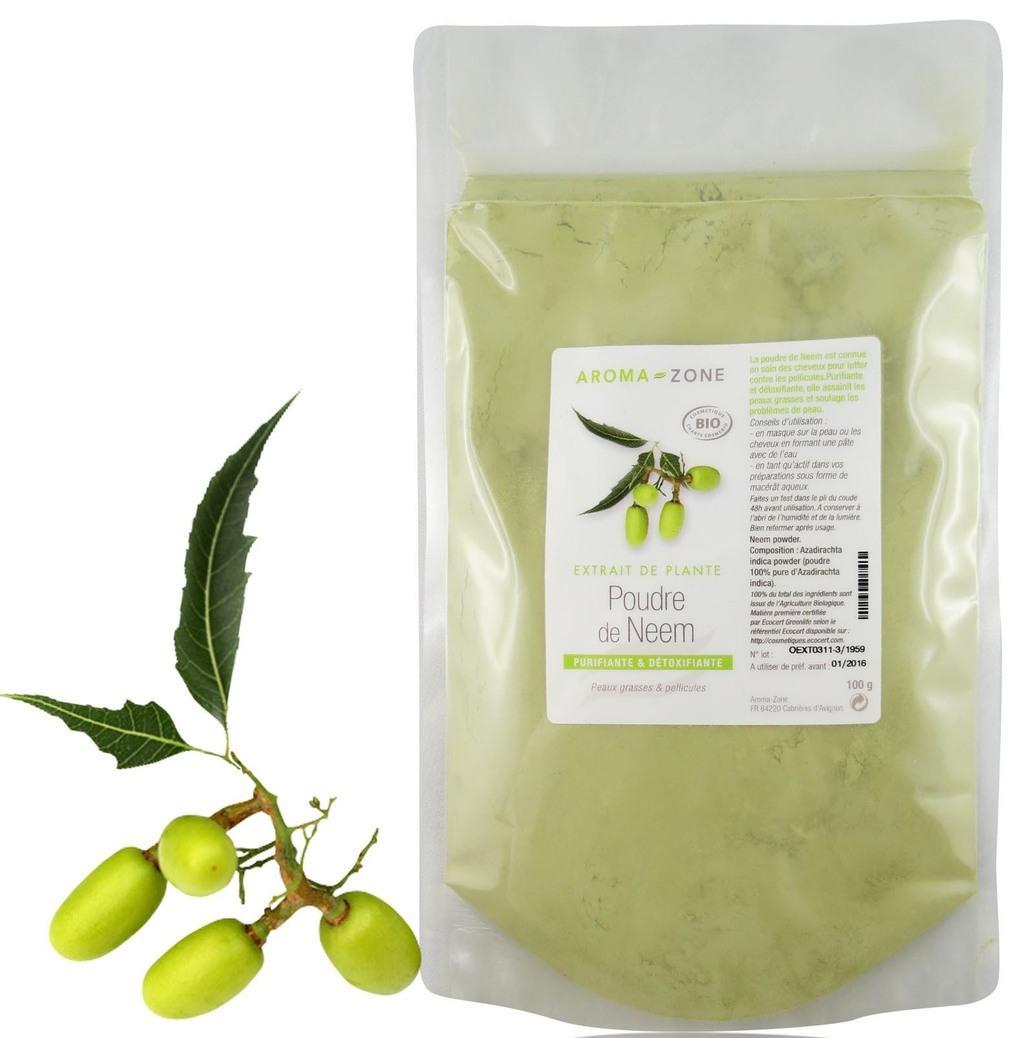 low-poo avec la poudre de neem