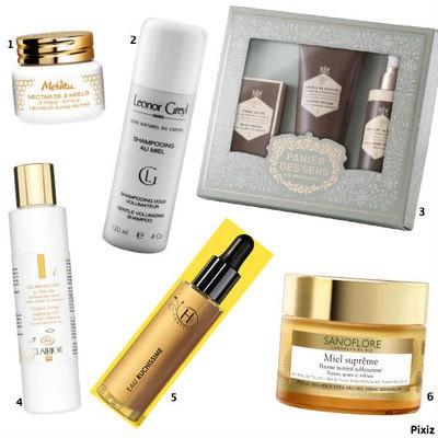Le miel composant des produits cosmétiques