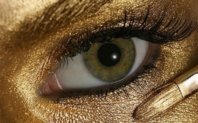 or dans la beauté et le maquillage