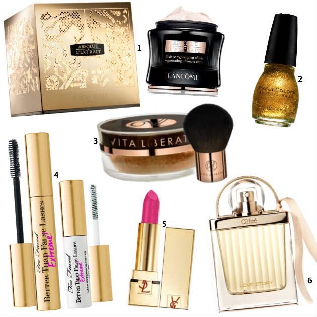 Or Les produits cosmétiques dorés