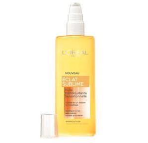 Teint lumineux: huile démaquillante l'Oréal
