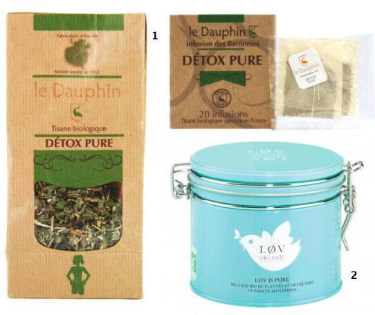 thé et tisanes detox