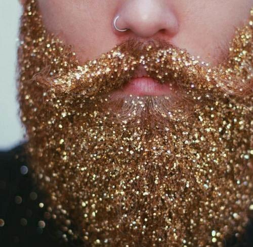 Glitter sur la barbe