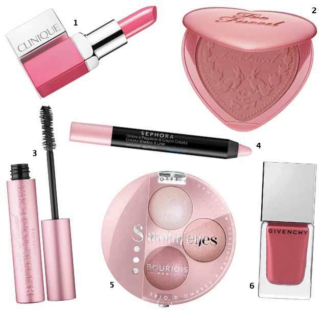 Le maquillage voit la vie en rose