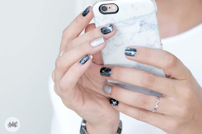 nail art marbré, la nouvelle tendance