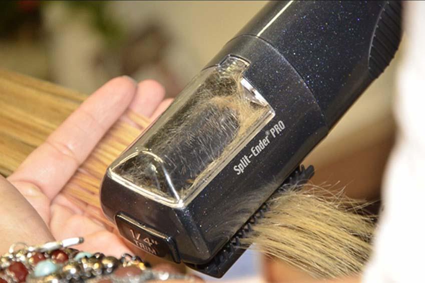Split ender pour les cheveux abimés et fourchus