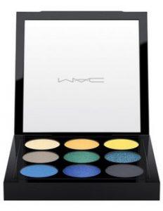 Maquiller les yeux bleus avec Mac Cosmétique et sa palette 9 couleurs Tropic Cool Times Nine