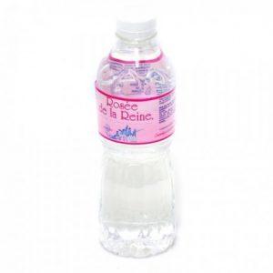 Dans mon sac de plage : bouteille d'eau de source Rosée de la Reine