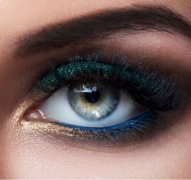 maquiller les yeux verts