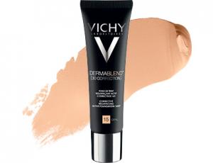 fonds de teint pour peaux sensibles : Dermablend 3D Correction de Vichy