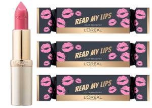 idées cadeaux Beauté à moins de 10 euros : Christmas Cracker Lip Kit de L'Oréal