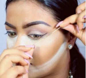 Beautyhacks : trait eyeliner avec une ficelle