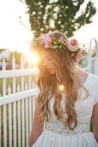 inspirations coiffures pour mariage: La bohémienne