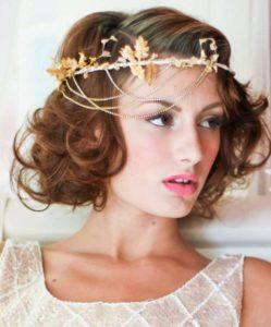 inspirations coiffures pour mariage : Carré ondulé et sophistiqué