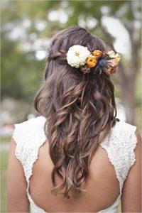 inspirations coiffures pour mariage : La simplicité