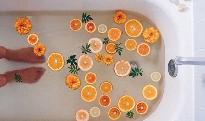 bain de fleurs