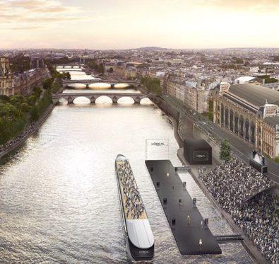 Le défilé L'Oréal Paris le 30 septembre 2018 sur la seine