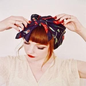accessoires cheveux foulard Crédit : Pinterest