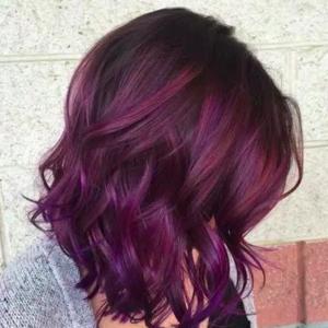 Le Burgundy hair