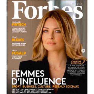 Caroline Receveur fais la une du magazine Forbes