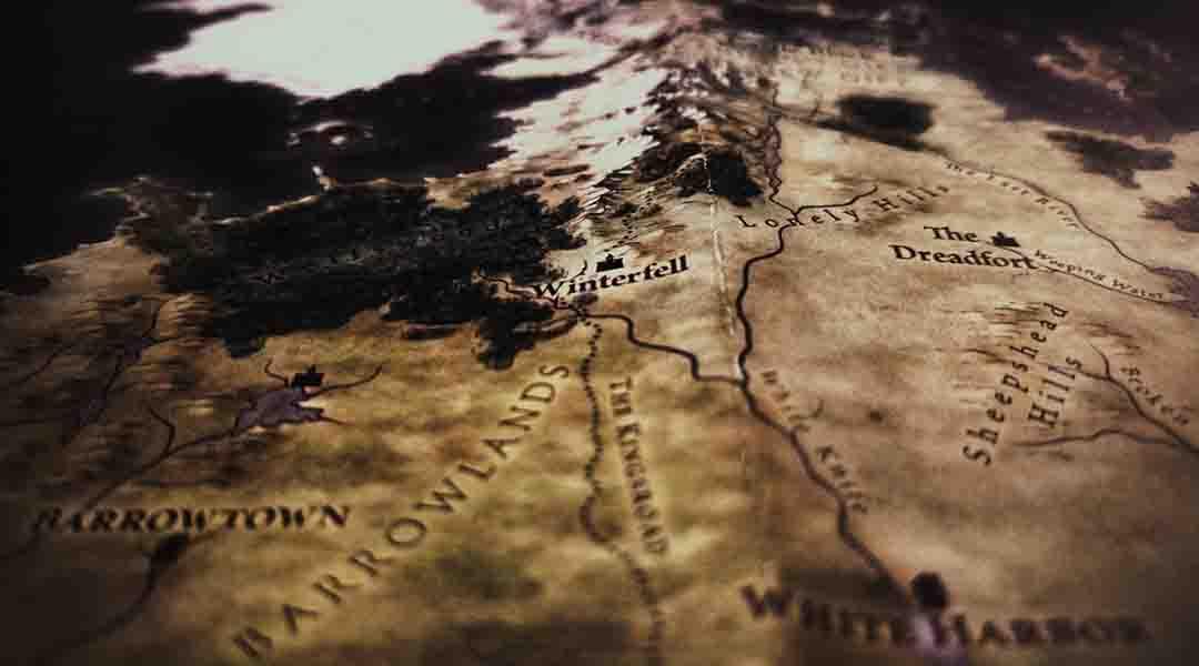 Carte de la série Game of trone